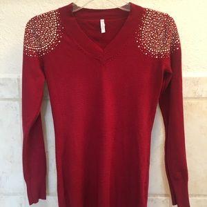 PinkBlush Maternity Sweater- Long Sleeved V-neck